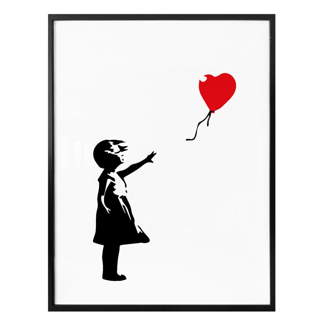 Poster Banksy - Girl with the red balloon - WA256774
