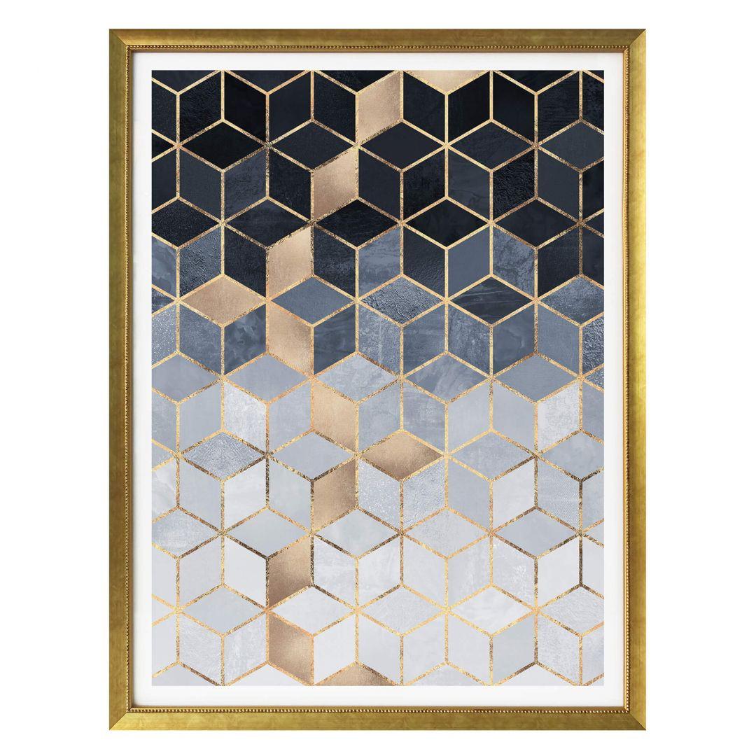 Poster Fredriksson - Blaue Geometrie - WA257442