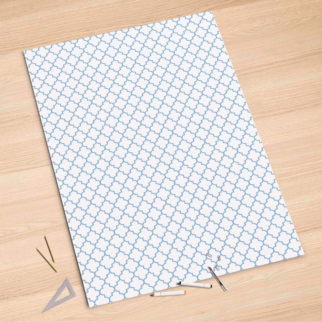 Folienbogen (100x150cm) - Retro Pattern - Blau - CR106249