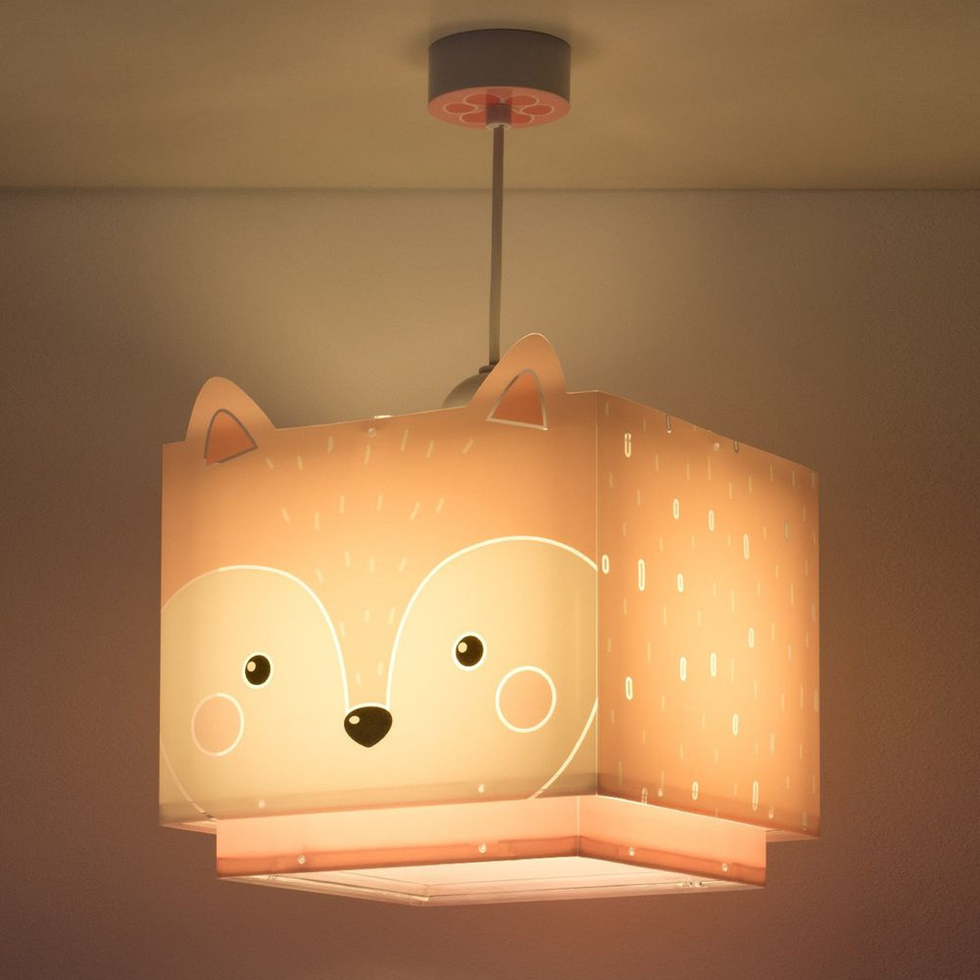 Kinderzimmer Pendelleuchte Little Fox in Pink E27 - CL130028