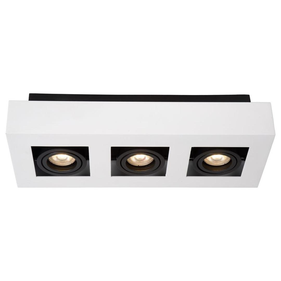 LED Deckenleuchte Xirax GU10 3x5W in Weiss 3-flammig - CL120219