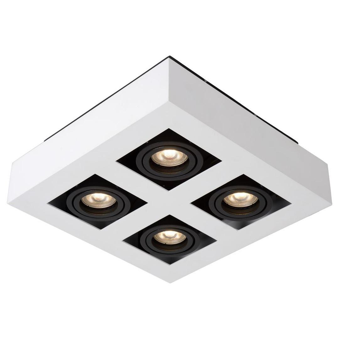 LED Deckenleuchte Xirax GU10 4x5W in Weiss 4-flammig - CL120032