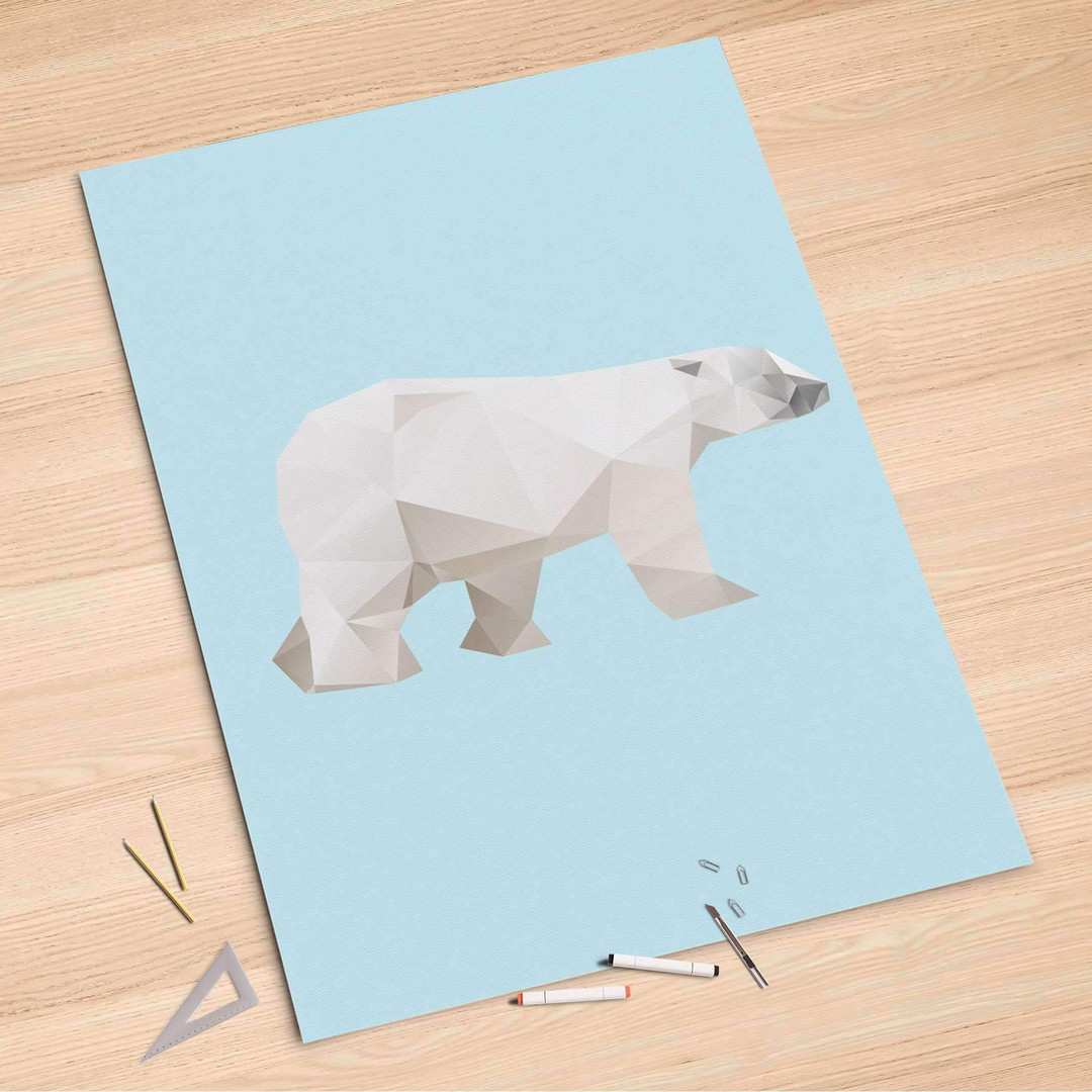 Folienbogen (100x150cm) - Origami Polar Bear - CR106231