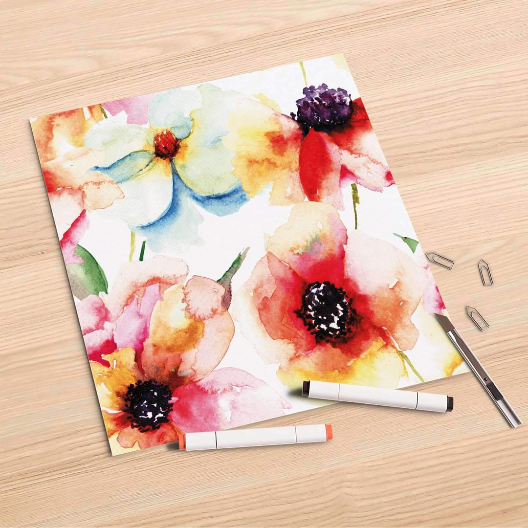 Folienbogen (30x30cm) - Water Color Flowers - CR106985