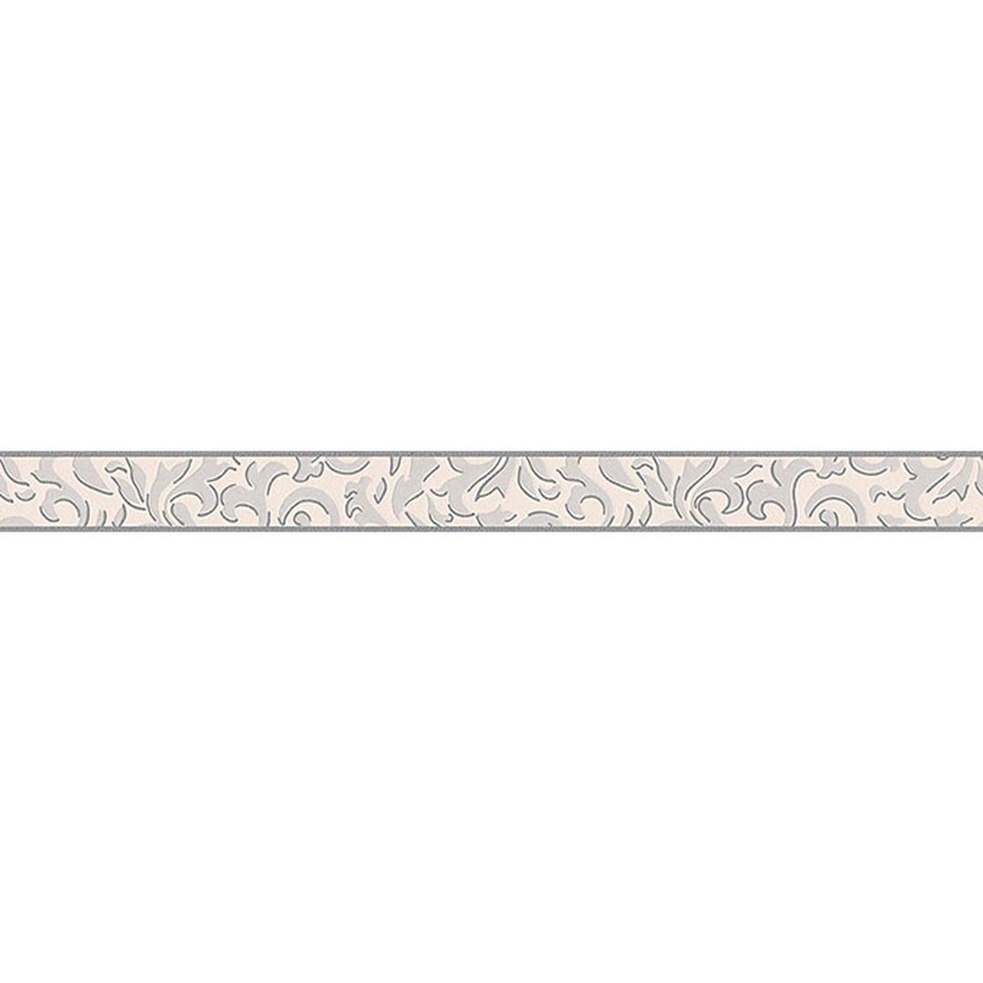 A.S. Création Bordüre Only Borders 9 grau, metallic, weiss - WA100762