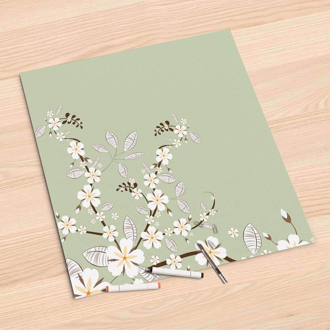 Folienbogen (60x60cm) - White Blossoms - CR107237
