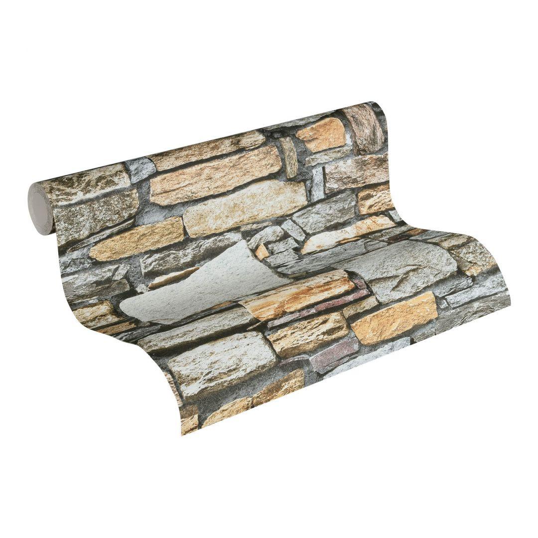 Vliestapete Premium Wall Tapete in Naturstein Optik braun, grau - WA251186
