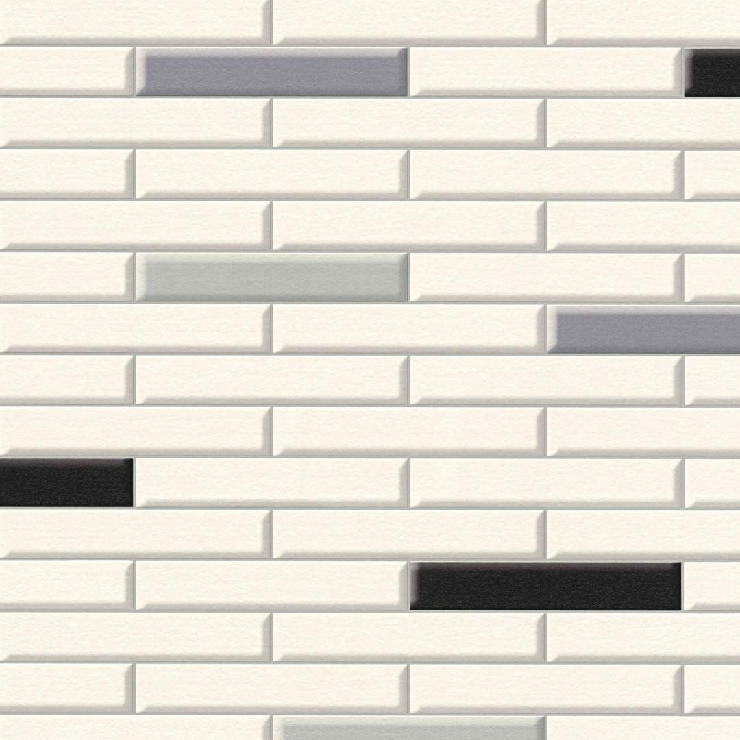 A.S. Création Tapete il Decoro in Klinker Optik creme, grau, schwarz - WA267804