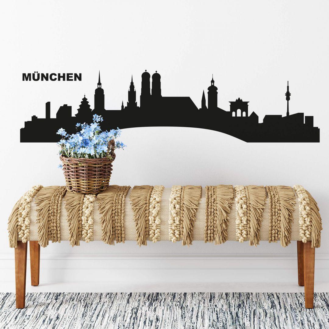 Wandtattoo München Skyline 1 - WA216255