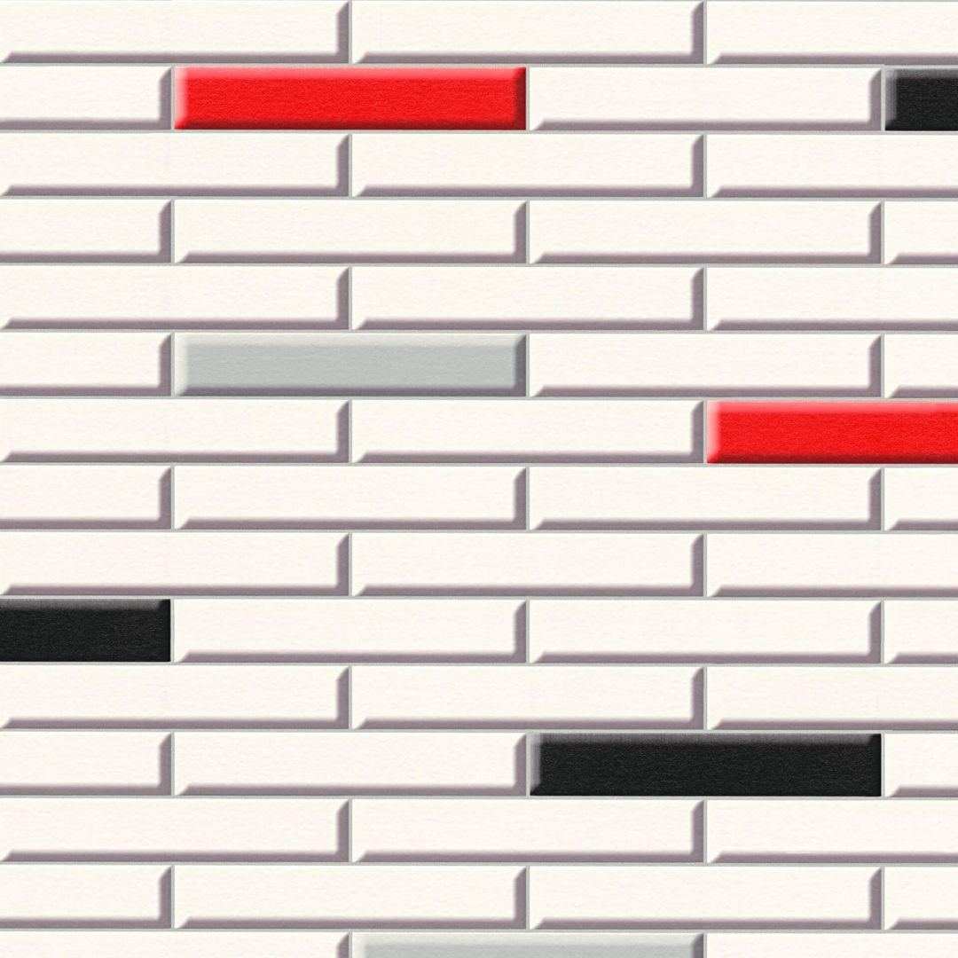 A.S. Création Tapete il Decoro in Klinker Optik creme, rot, schwarz - WA267807