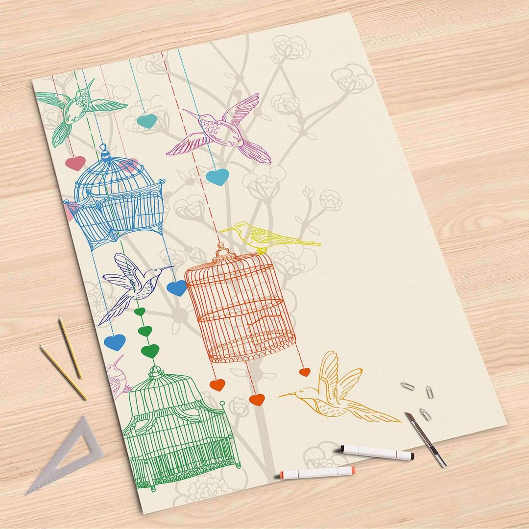 Folienbogen (80x120cm) - Birdcage - CR107270