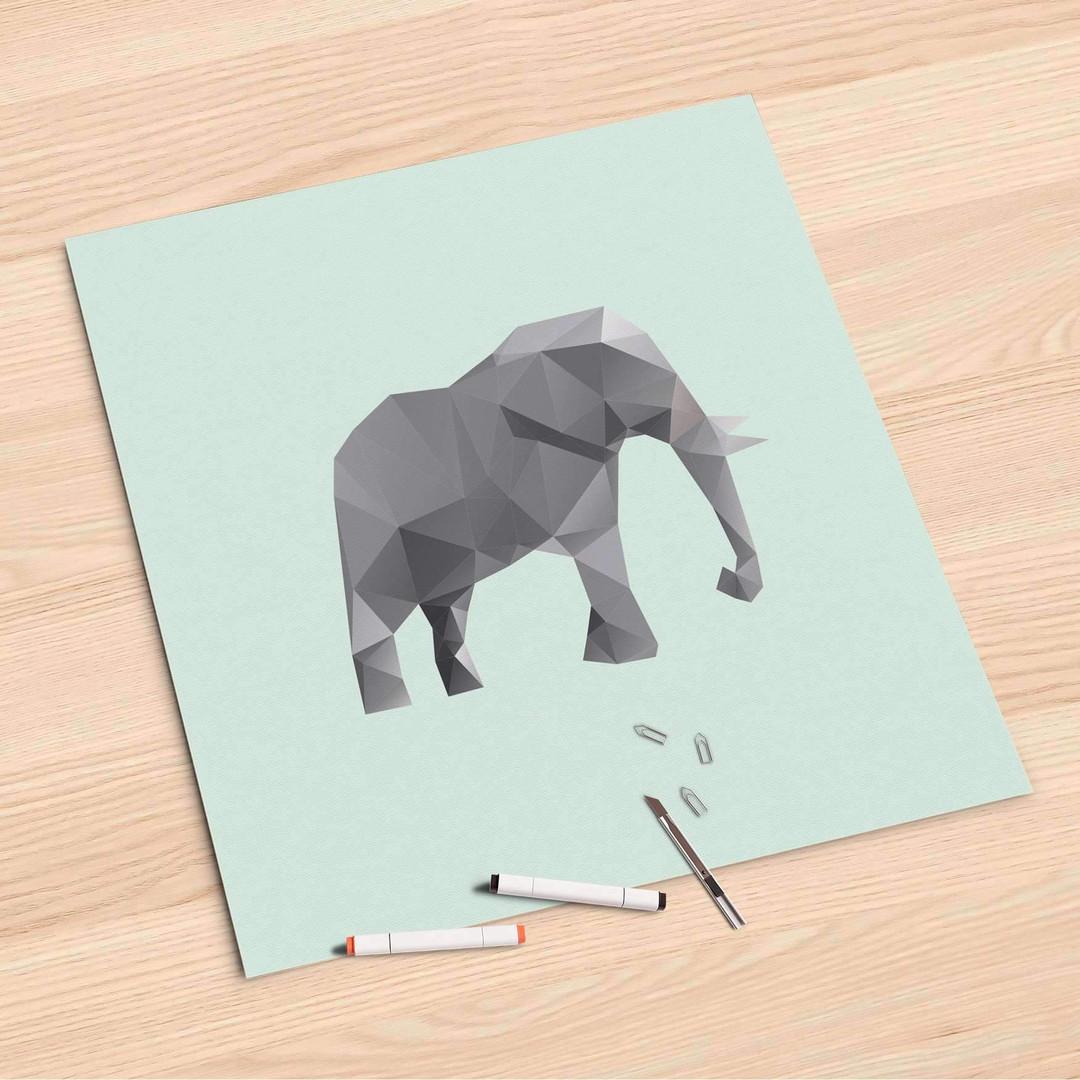 Folienbogen (60x60cm) - Origami Elephant - CR107144