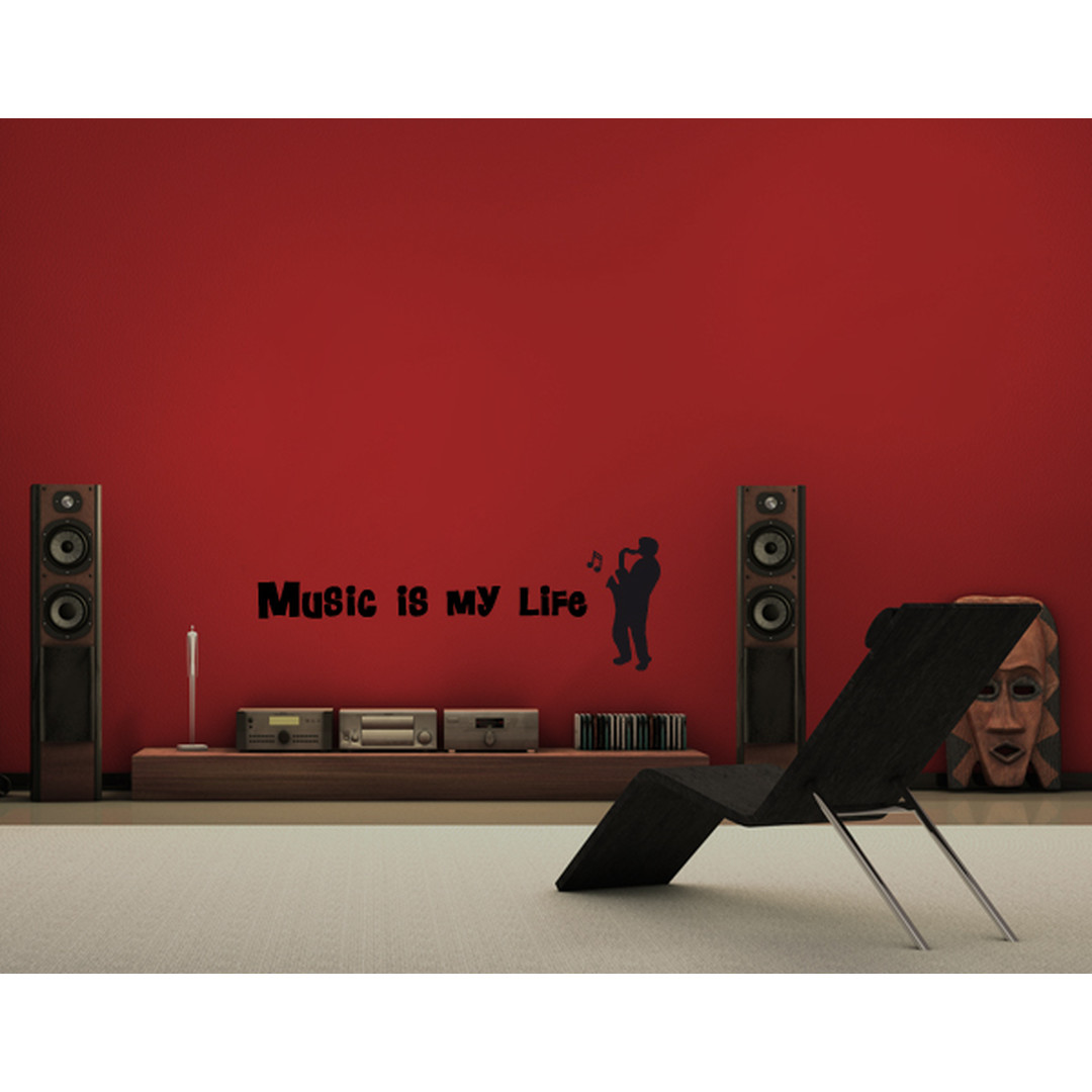 Wandtattoo Music is my life - TD16427