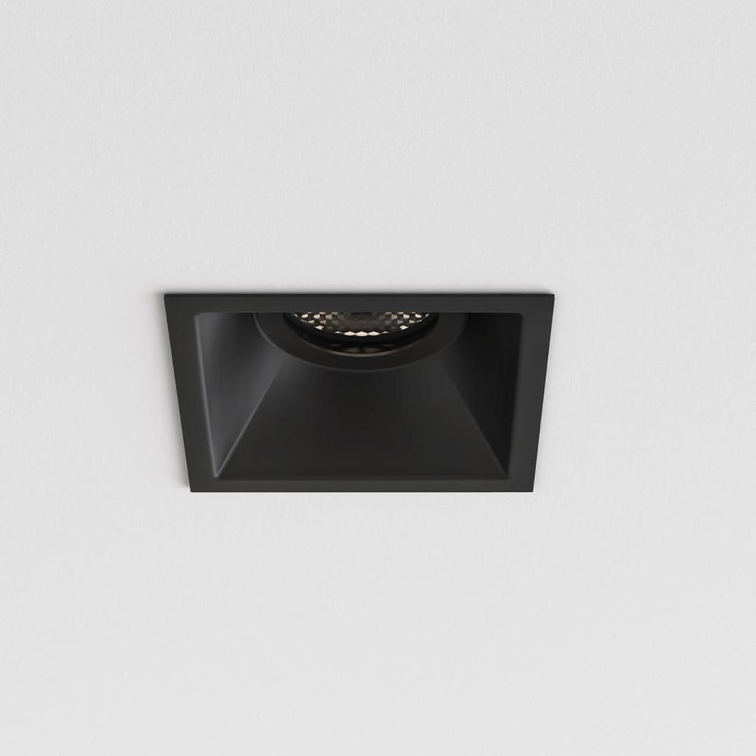 Deckeneinbaustrahler Minima Square feuerbeständig in Schwarz IP65 GU10 - CL129808