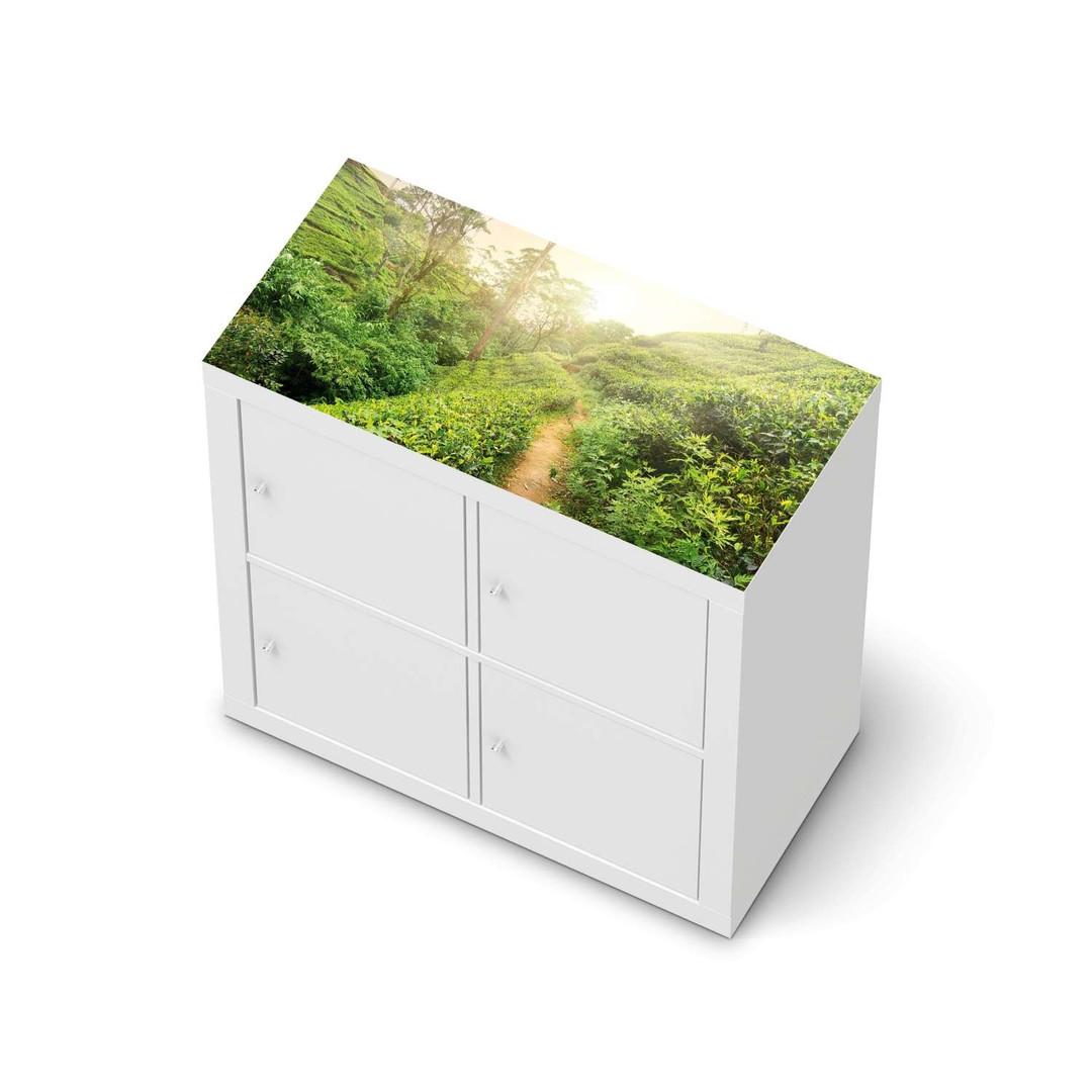 Möbelfolie IKEA Expedit Regal oben - Green Tea Fields - CR114636