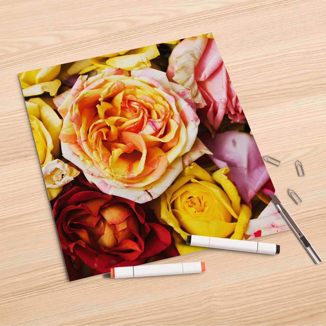 Folienbogen (30x30cm) - Yellow Rose - CR106999
