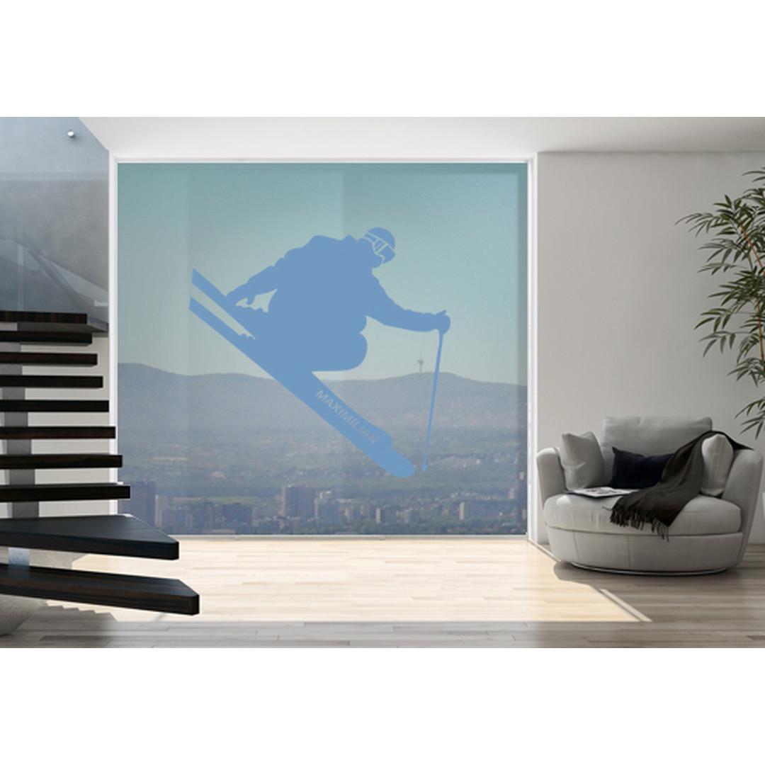Glasdekor Wunschtext Skispringer - CG10422
