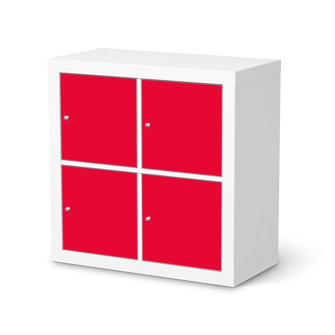 Möbelfolie IKEA Expedit Regal 4 Türen - Rot Light - CR114579