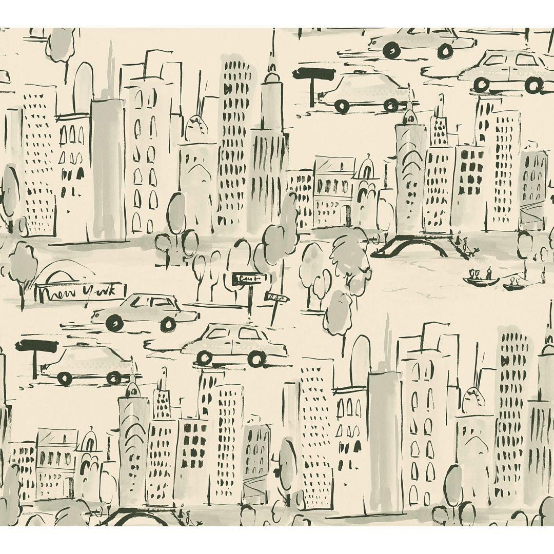 A.S. Création Papiertapete Boys & Girls 6 Tapete New York creme, grau, schwarz - WA267670
