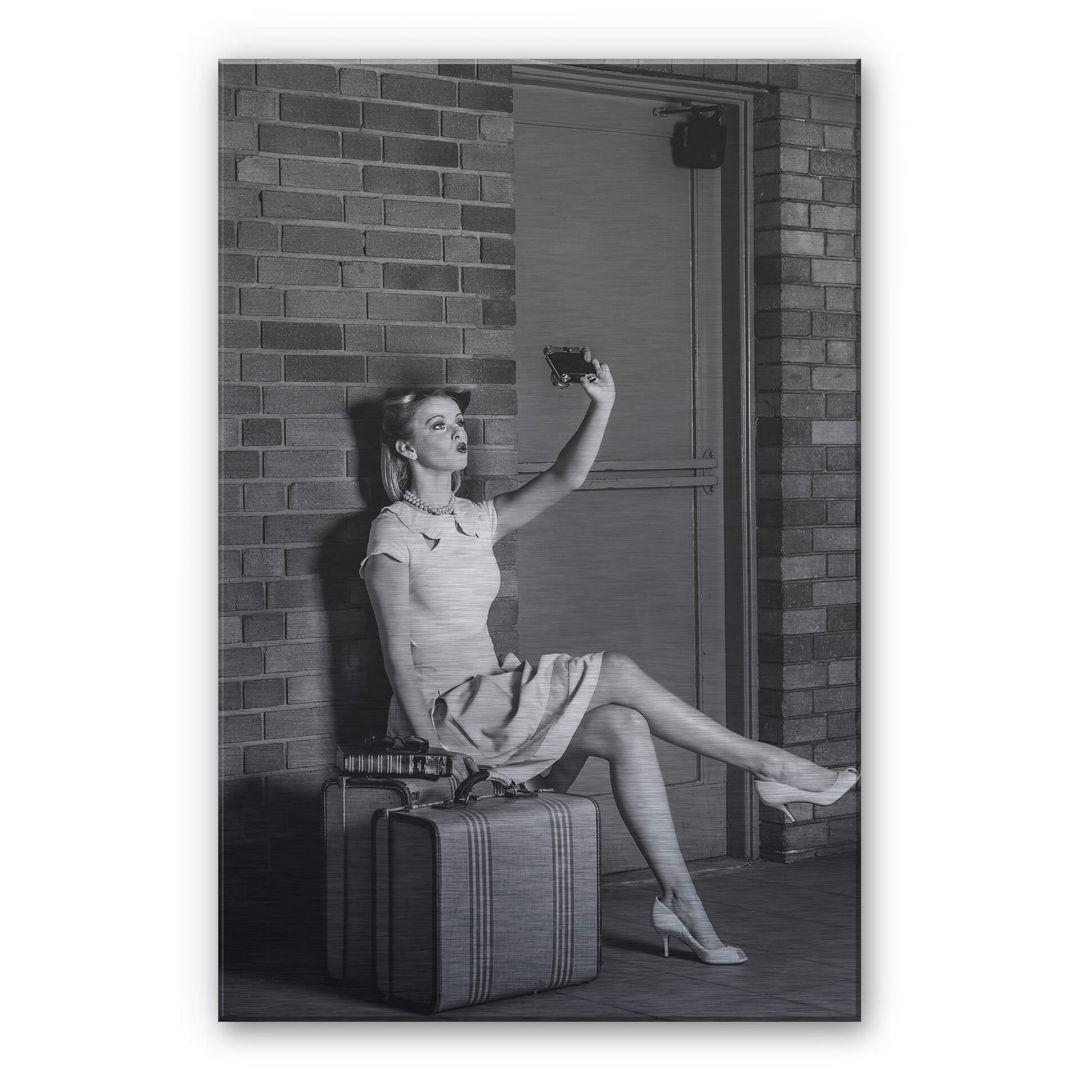 Alu-Dibond-Silbereffekt Woodforth - Oldfashioned selfie - WA252235