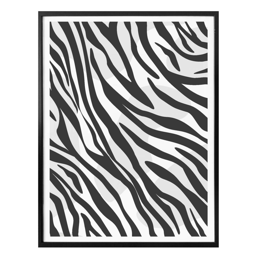 Poster Zebra - Muster - WA259227