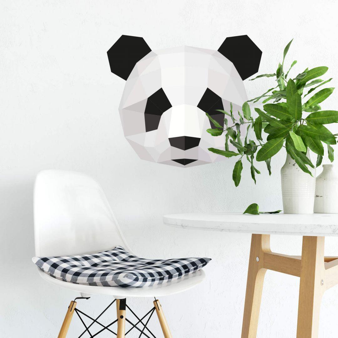 Wandtattoo Polygon - Pandakopf - WA283960