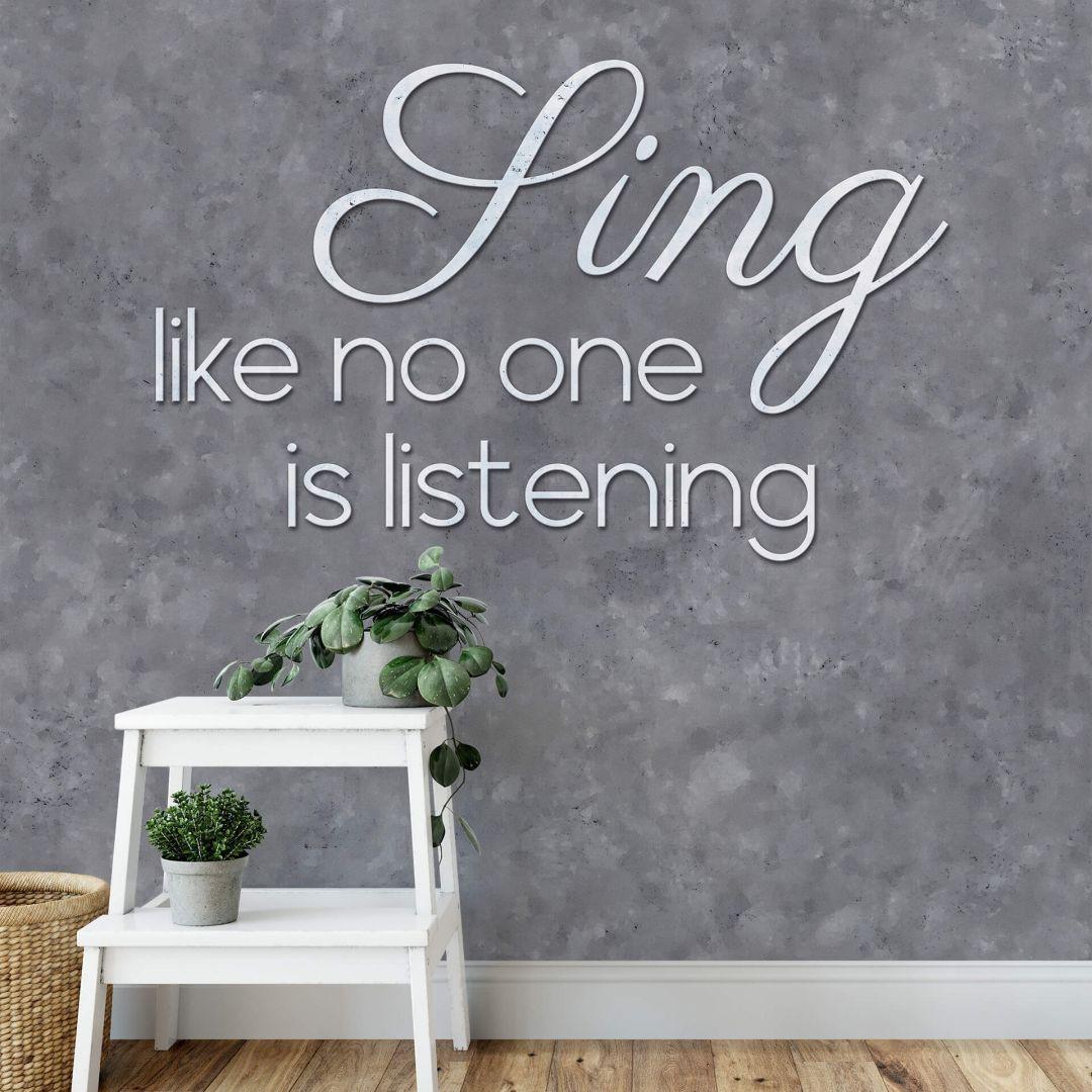 Fototapete - Sing like no one is listening - WA288762