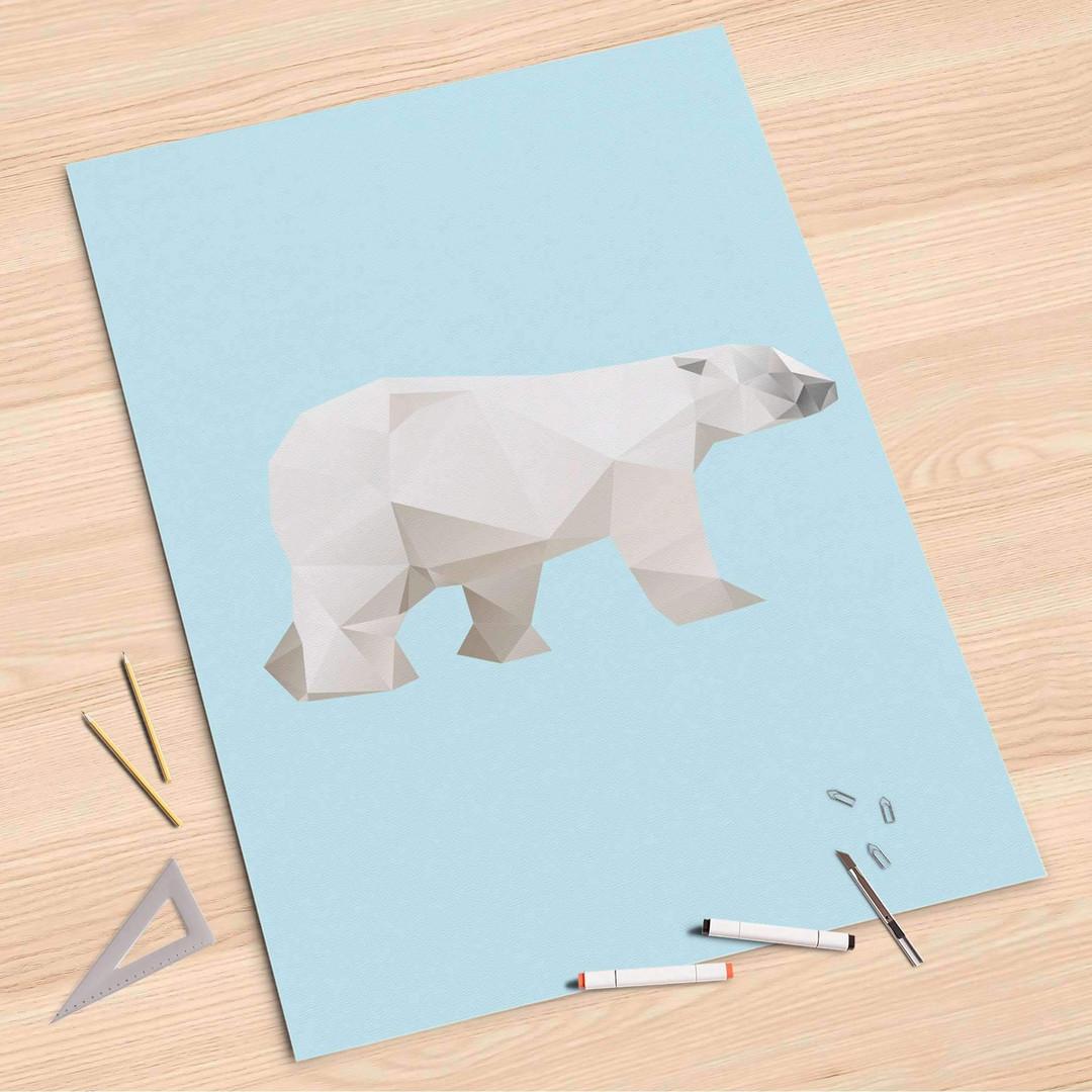 Folienbogen (80x120cm) - Origami Polar Bear - CR107387