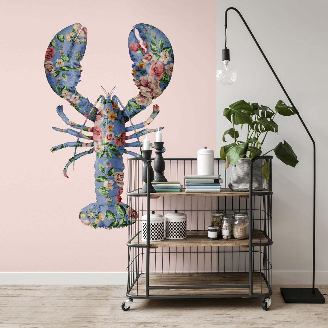 Fototapete Fuentes - Floral Lobster - 192x260cm - WA271015