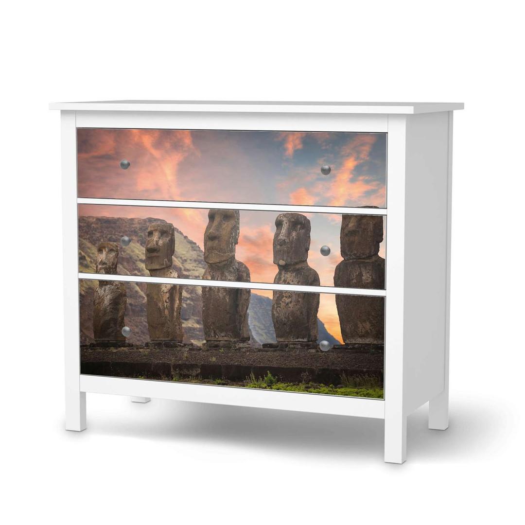 Möbelfolie IKEA Hemnes Kommode 3 Schubladen - Easter Island - CR114710
