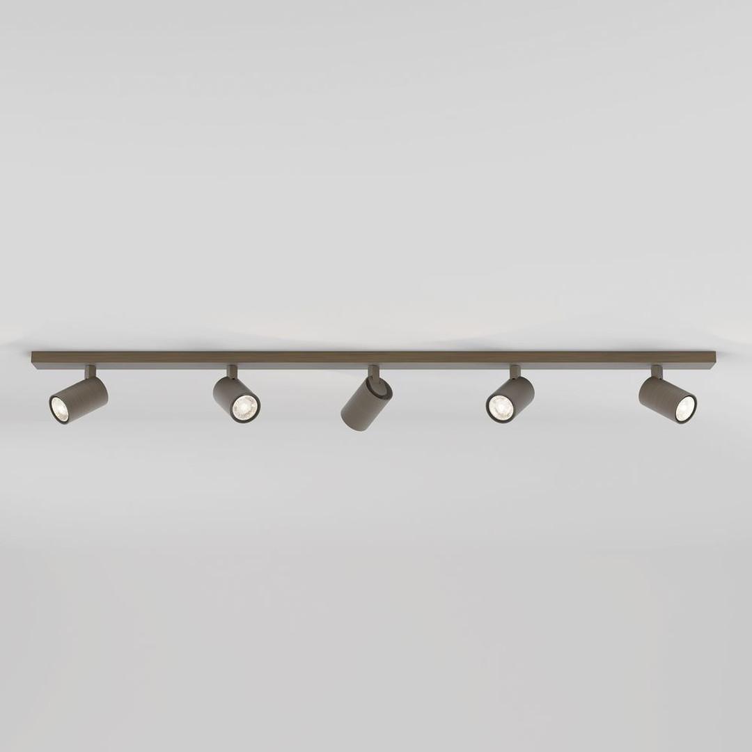 Deckenleuchte Ascoli in Bronze GU10 5-flammig - CL119661