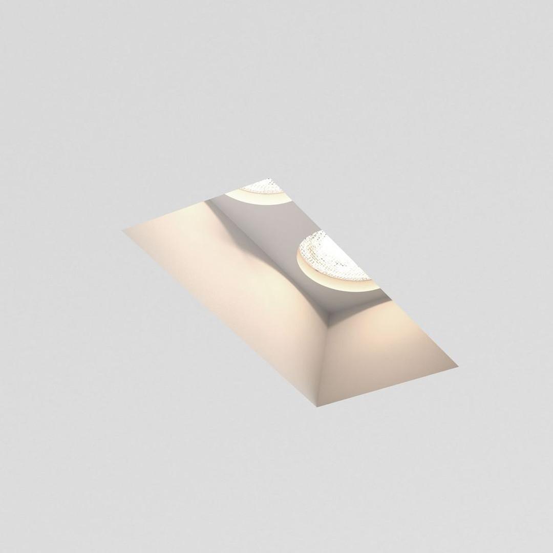 Einbaustrahler Blanco in Weiss 2-flammig GU10 starr - CL101867
