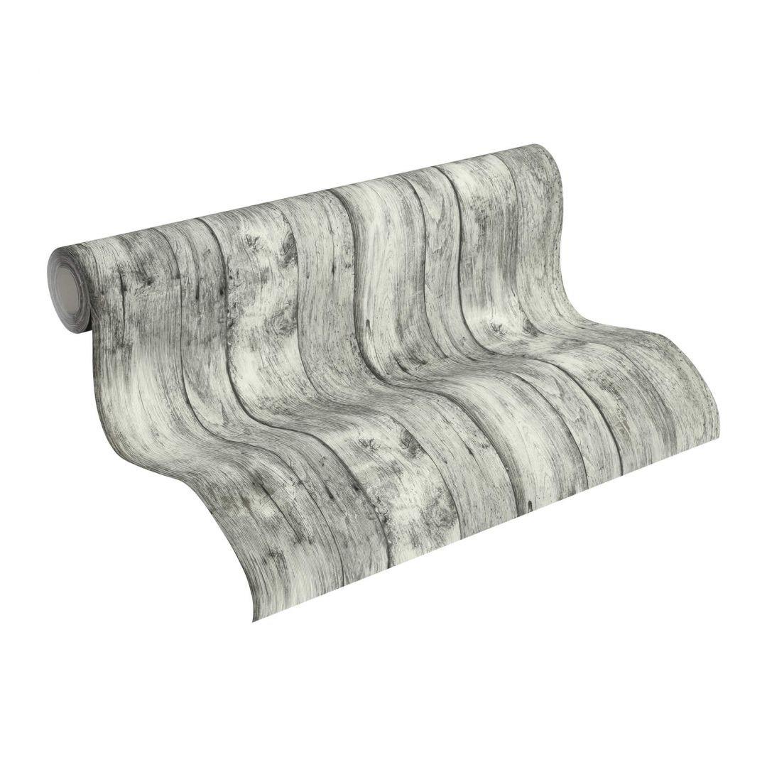 Vliestapete Premium Wall Tapete in Vintage Holz Optik grau, schwarz, weiss - WA251191