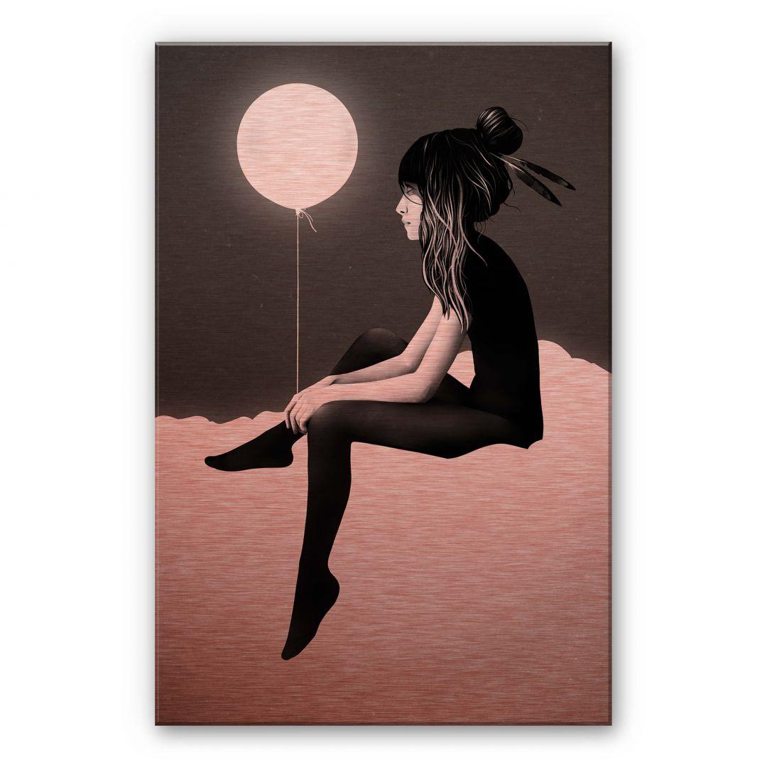 Alu-Dibond-Kupfereffekt Ireland - No such thing as nothing by night - leuchtender Ballon - WA252114