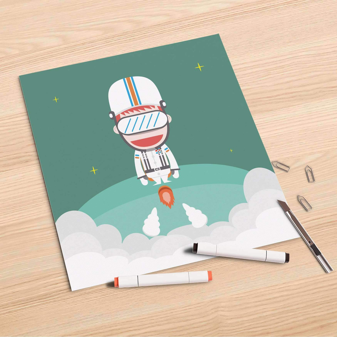 Folienbogen (30x30cm) - Rocket Boy - CR106925