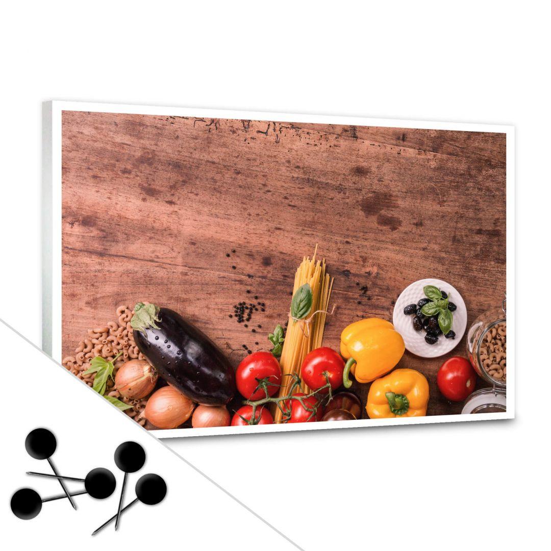 Pinnwand Frisches Gemüse 03 inkl. 5 Pinnadeln - WA256630