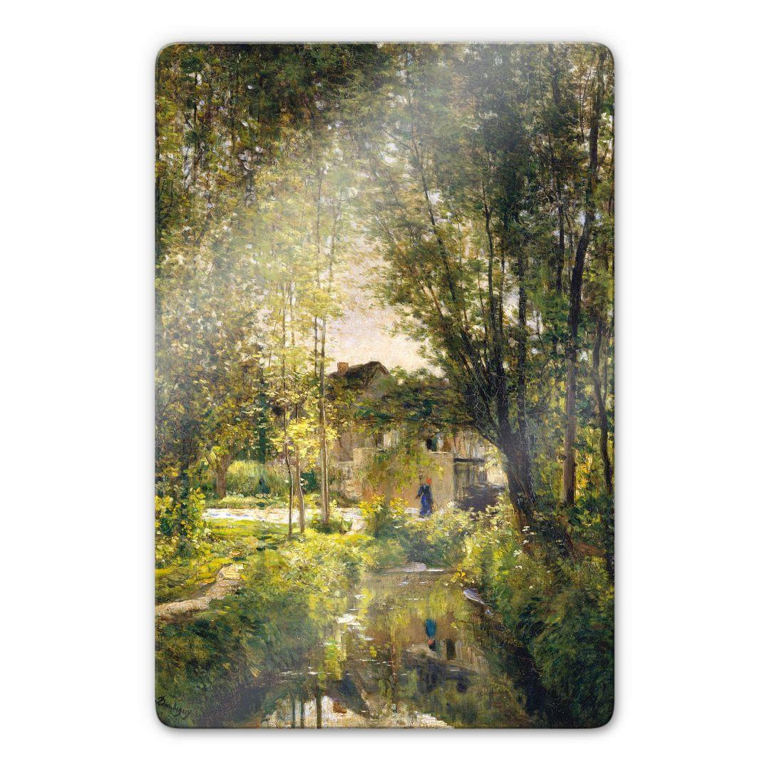 Glasbild Daubigny - Landschaft mit Sonnenlicht - WA252749