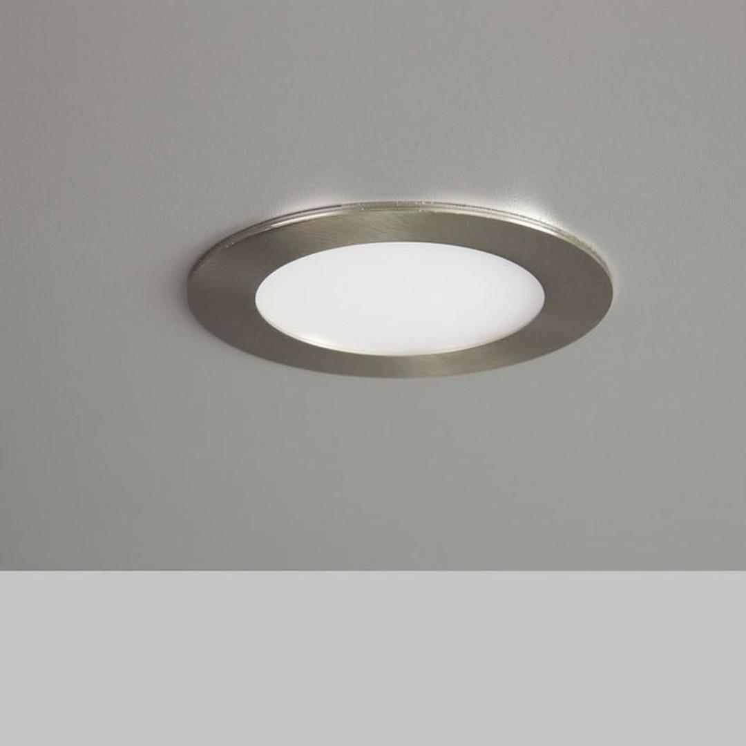 LED Panel 9W 600lm 3000K in Nickel-satiniert 120mm rund - CL119560