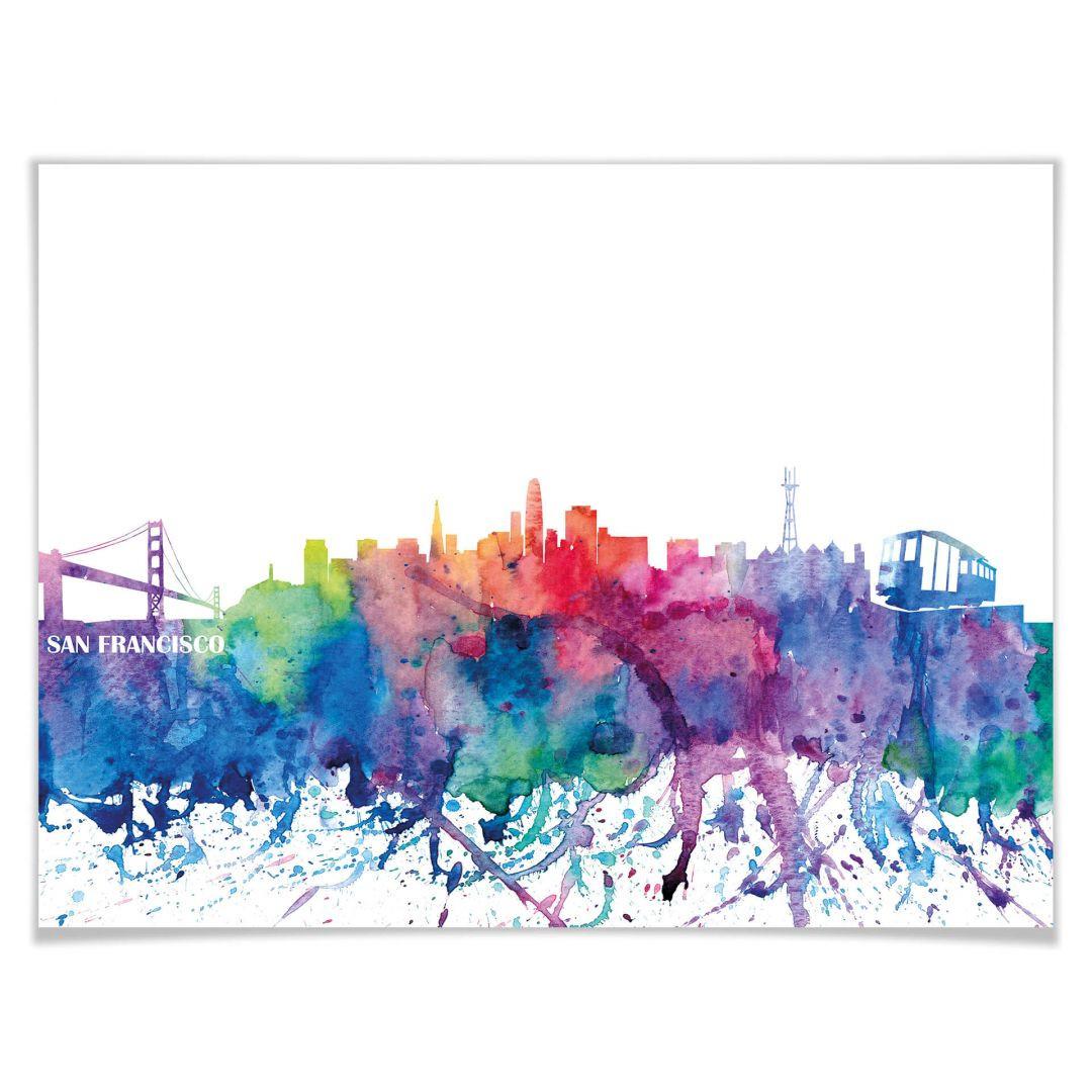 Poster Bleichner - San Francisco Aquarell Skyline - WA256911