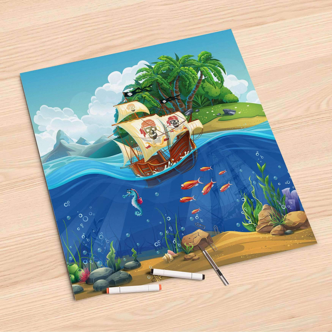 Folienbogen (60x60cm) - Pirates - CR107157