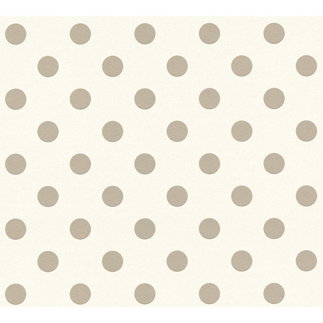 A.S. Création Vliestapete Boys & Girls 6 Tapete gepunktet beige, rosa, weiss - WA267832