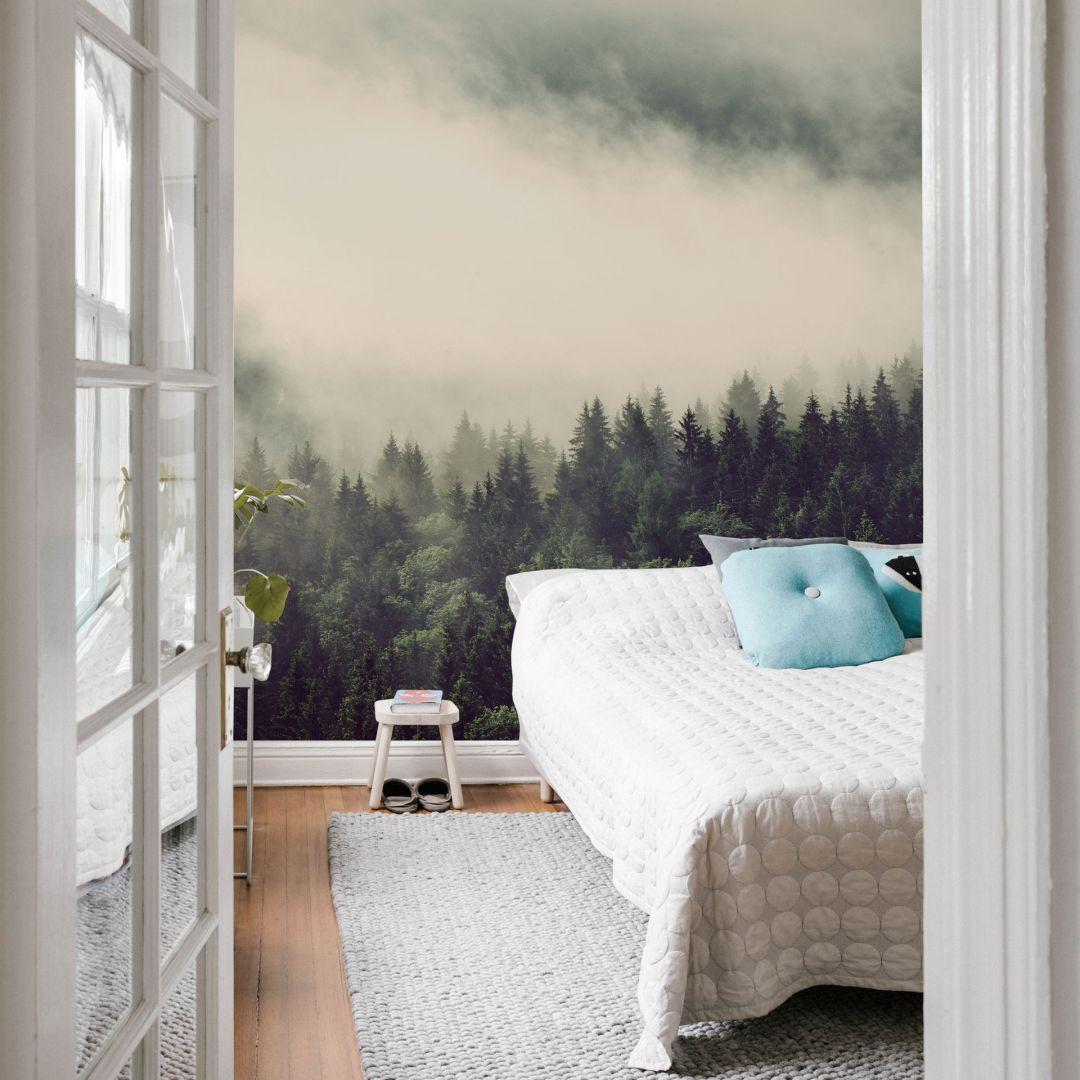 Fototapete Nebel im Wald 02 - 192x260cm - WA227066
