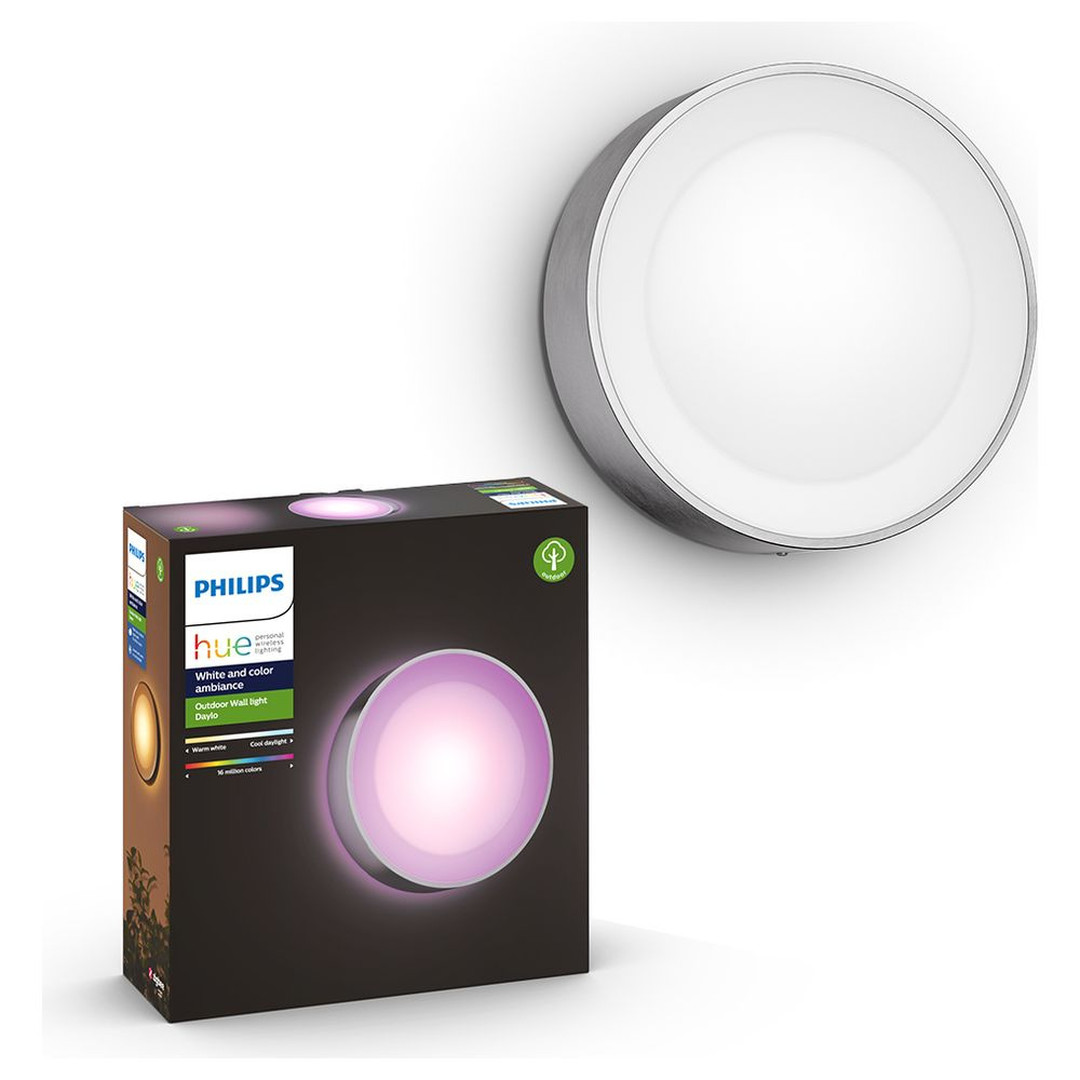 Philips Hue White & Color Ambiance Daylo - Wandleuchte, silber - CL120467