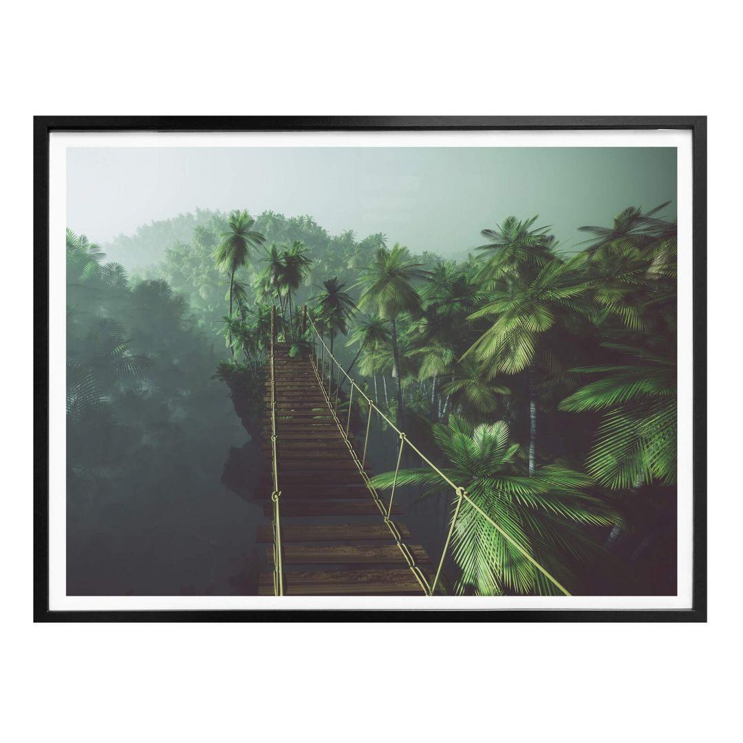Poster - Hängebrücke im Dschungel - WA265261