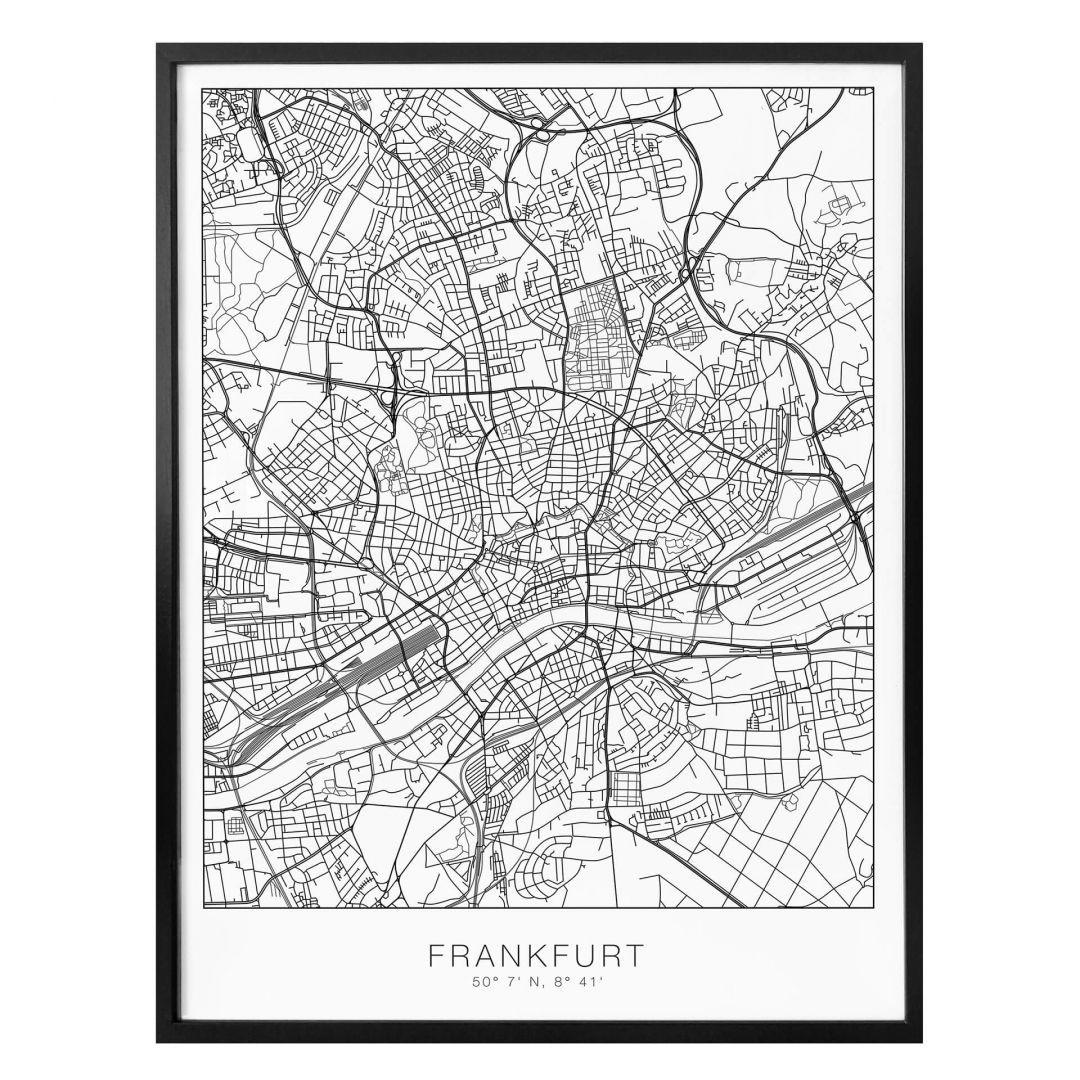 Poster Stadtplan Frankfurt - WA259060