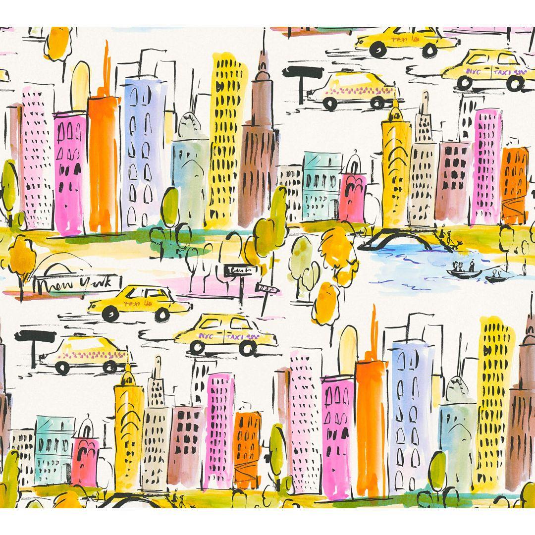A.S. Création Papiertapete Boys & Girls 6 Tapete New York bunt, gelb, orange - WA267668