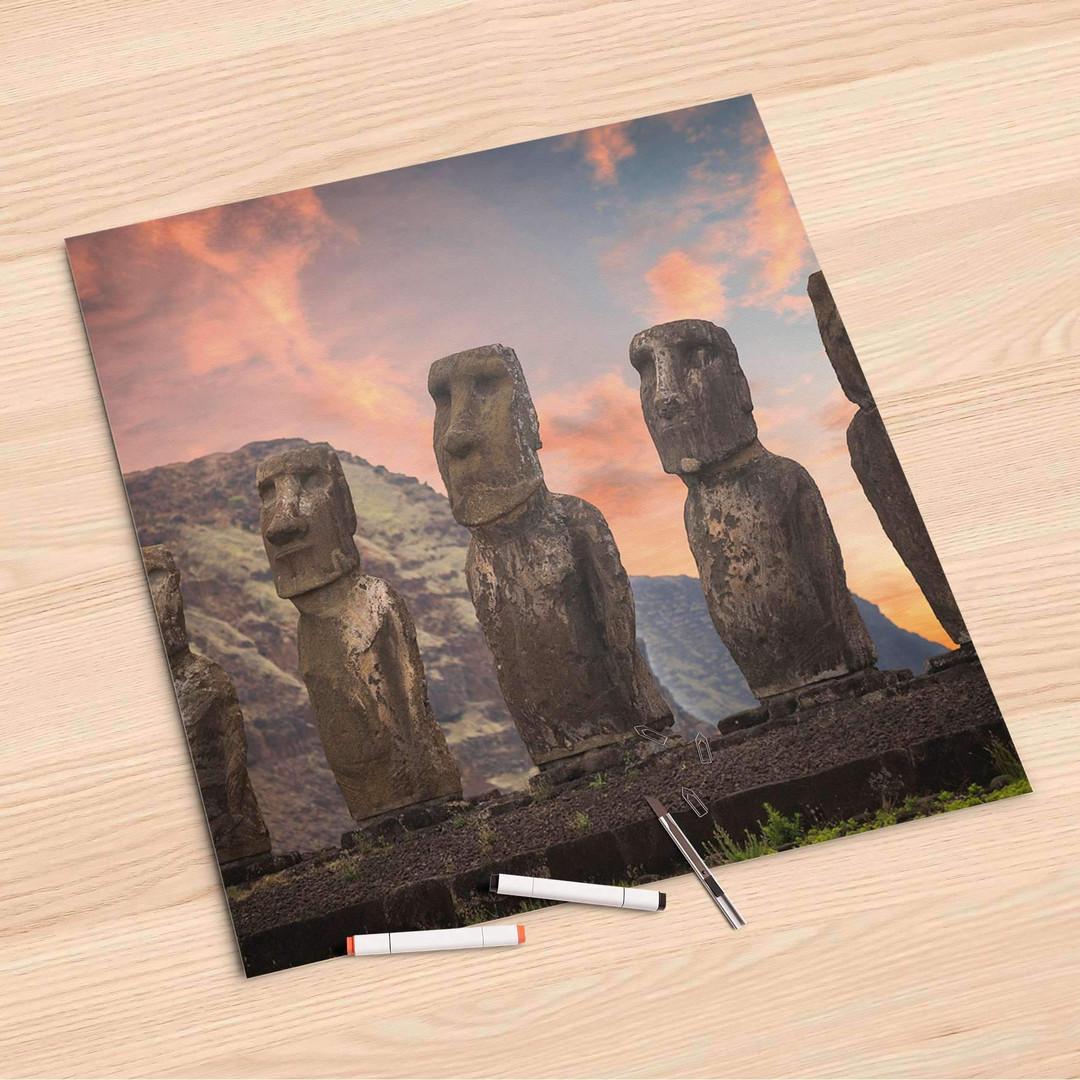 Folienbogen (60x60cm) - Easter Island - CR107054