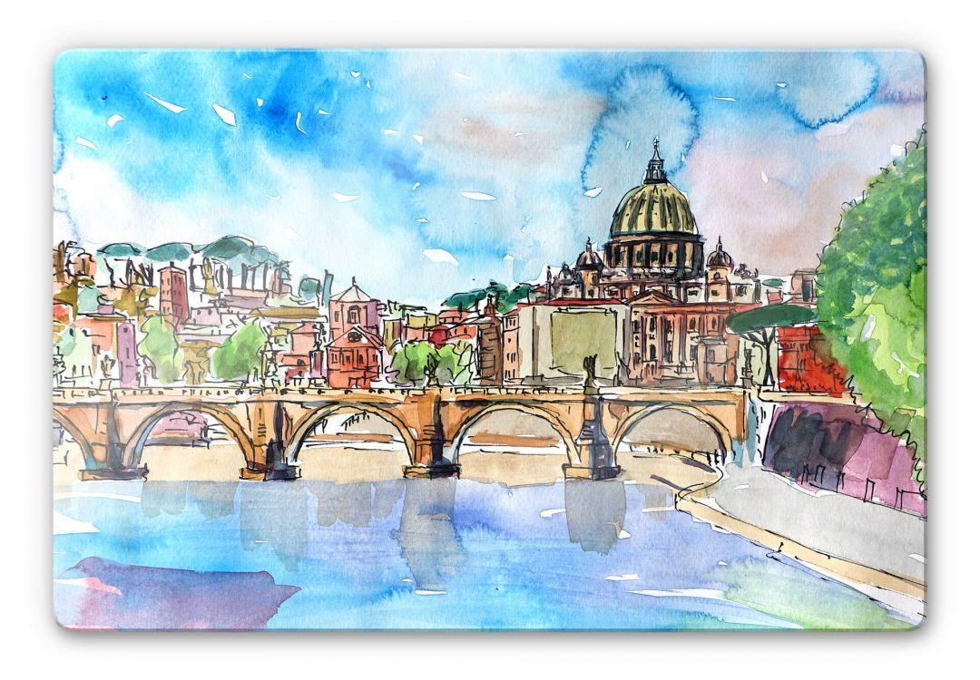 Glasbild Bleichner - Vatican in Rome - WA252675