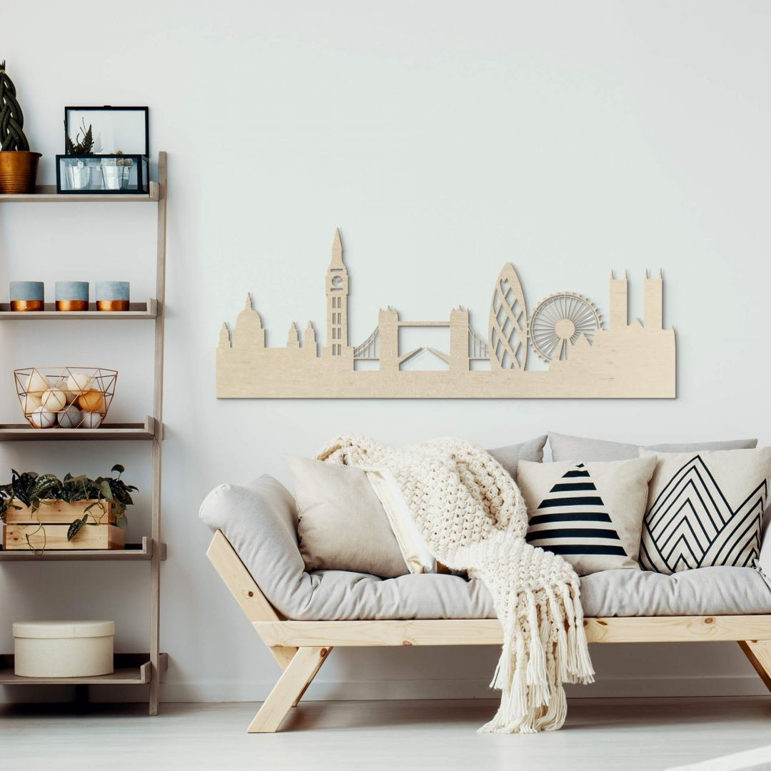 Holzkunst Pappel Furnier - Skyline London - WA253639