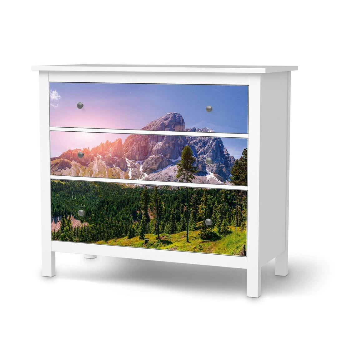 Möbelfolie IKEA Hemnes Kommode 3 Schubladen - Alpenblick - CR114683